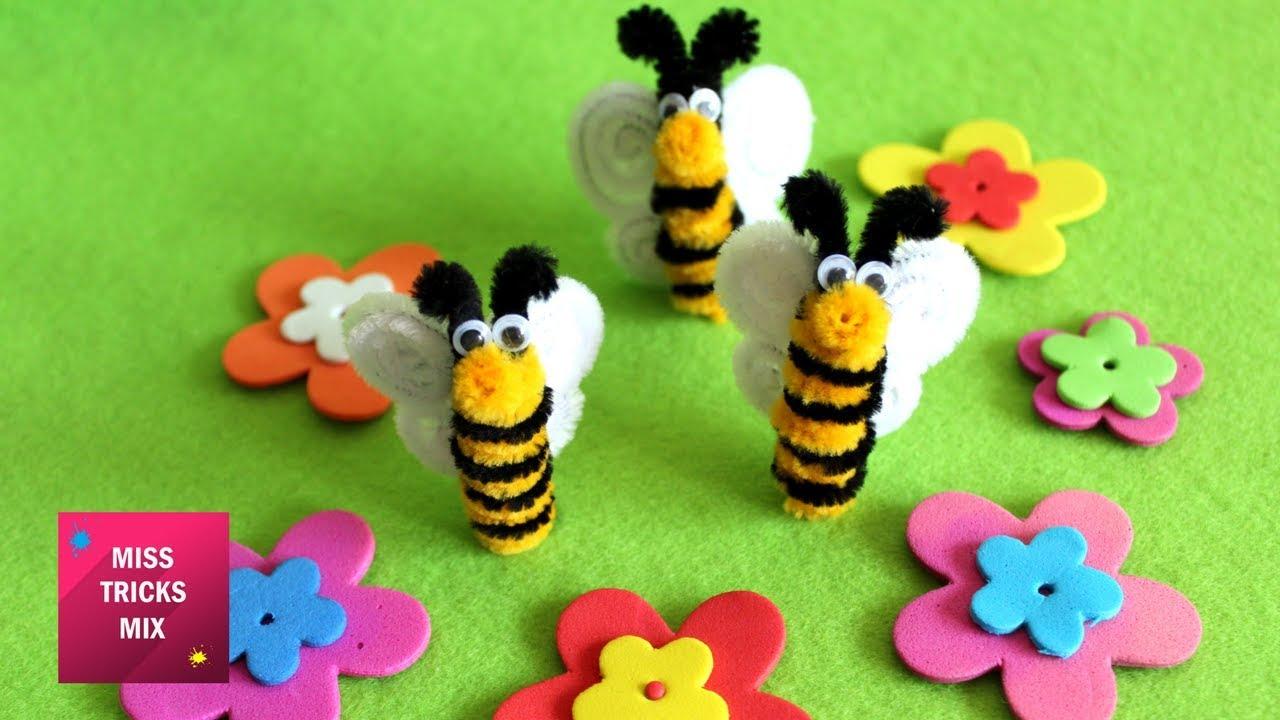 Pipe Cleaner Bee - DIY : How to make cute pipe cleaner bee ...