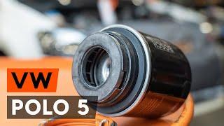 Hoe een oliefilter en motorolie vervangen op een VW POLO 5 Sedan [AUTODOC-TUTORIAL]