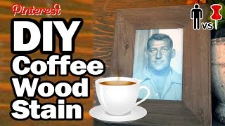 Diy Coffee Wood Stain - Man Vs. Pin #14