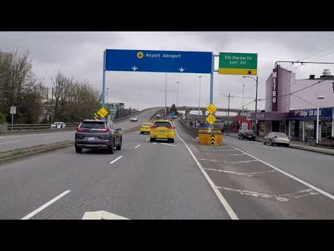 Driving to Vancouver Airport from Downtown - YVR International - 2018