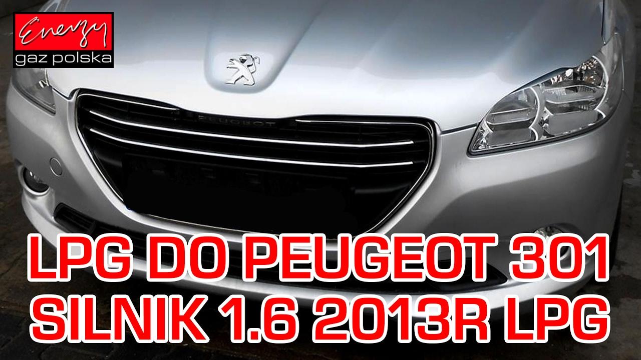 montaż lpg peugeot 301 z 1.6 2013r w energy gaz polska na gaz brc