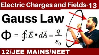 Electric Charges and Fields 13 | Gauss Law : All Concept and Numericals JEE MAINS/NEET II