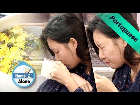 É a primeira vez que Hwasa faz o chá de crisântemo [Home Alone Ep 336]
