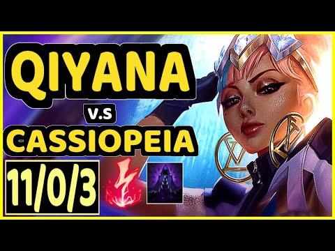 VOYBOY (QIYANA) vs CASSIOPEIA - 11/0/3 KDA MID GAMEPLAY - NA Ranked MASTER