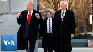 US President Trump and VP Pence Pay Visit to National MLK Memorial