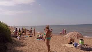 Отдых на море | Кучугуры 2018 | Краснодарский край | Пляж в конце июля