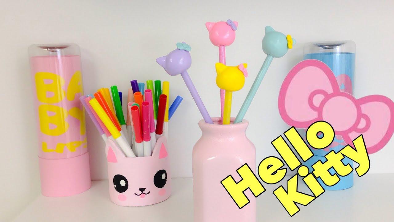 Manualidades kawaii como decorar l pices de hello kitty for Manualidades para decorar la casa