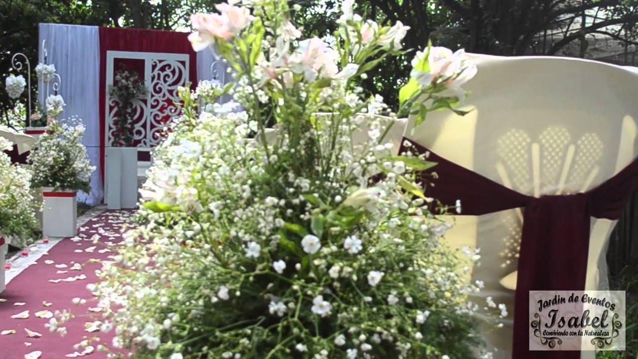 Jard n isabel boda civil youtube - Decoracion jardin boda civil ...