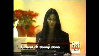 CNN-SONNY BONO FUNERAL-1/9/98-CHER EULOGY
