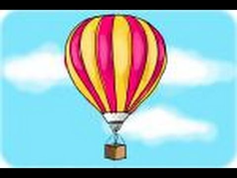 how to draw a hot air balloon youtube