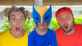 Lev and family have fun playing   Lev Family Show