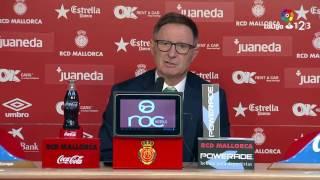 Rueda de prensa de Juan Antonio Anquela RCD Mallorca vs SD Huesca (3-0)