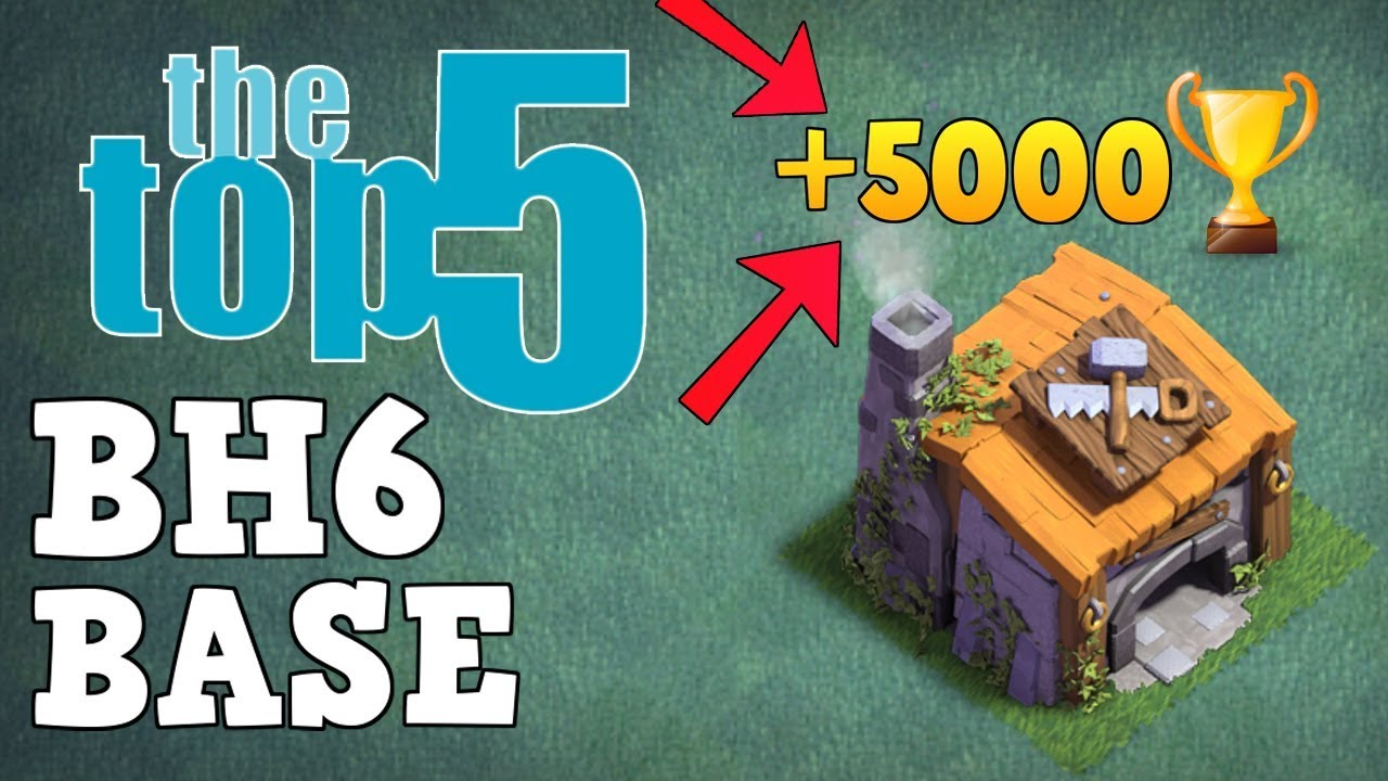 TOP 5 BEST Builder Hall 6 Base +5000 Trophy | CoC BH6 Builder Base Layout |  Clash of Clans