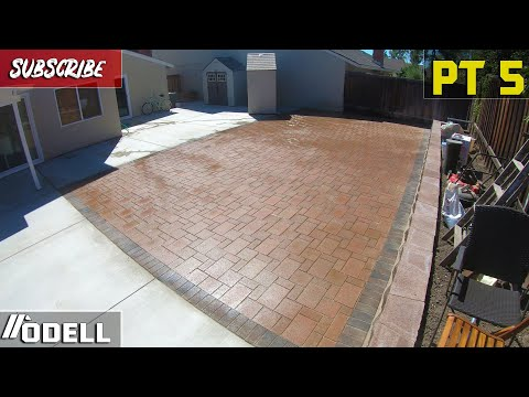 How to Lay and Install a Massive Paver Patio! Part 5