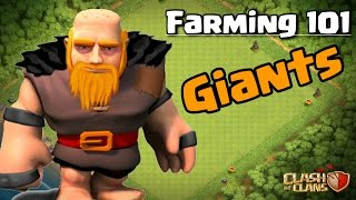 CLASH OF CLANS - FARMING 101: GIANTS TH8, TH9, TH10