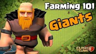 CLASH OF CLANS - FARMING 101: GIANTS TH8, TH9, TH10
