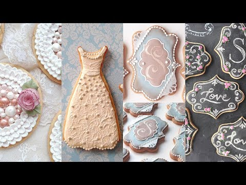 COOKIES FOR WEDDINGS - Cookie Decorating Compilation By SweetAmbs