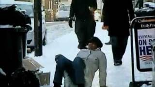 Ultimate montage of people slipping on ice