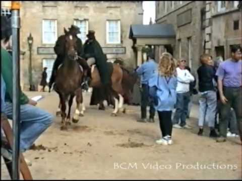 Middlemarch, BBC TV serial film location, in St. George's Square, Stamford, Lincolnshire, 1993