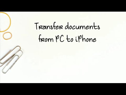 How To Transfer Documents From PC To IPhone