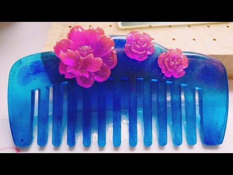 DIY Tutorial - Chinese Hair Accessories Blue Ocean Hair Comb