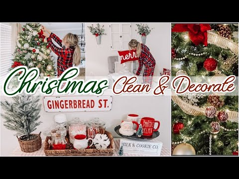 CHRISTMAS CLEAN & DECORATE WITH ME 2019 - DECORATING FOR CHRISTMAS | Lauren Midgley