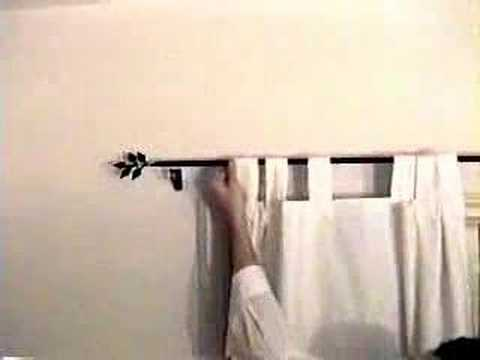 Curtain Rods best way to install curtain rods : Installing wrought iron curtain rods and brackets - YouTube