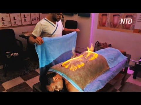 Огненный массаж по технике фараонов делают в Египте