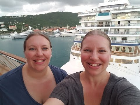 Cagney's Steakhouse Waterfront & Sailaway from St Thomas ♥ Norwegian Escape GROUP Cruise Vlog [ep13]