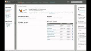 Editing in eZ Publish: Basics