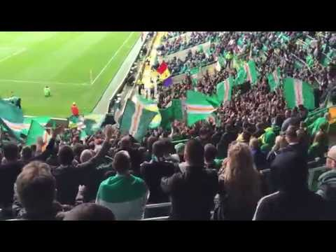 Green Brigade - Safe Standing Section - Celtic Symphony Graffiti on the wall