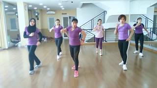 Cover images Dangdut lagi syantik ( Siti Badriah) l Dance fitness choreo Sri andayani