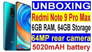 Redmi Note 9 Pro Max (Aurora Blue, 6GB RAM, 64GB Storage) Unboxing and Review   Redmi Note 9 Pro Max
