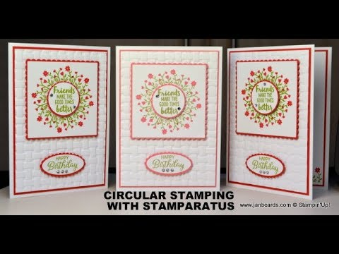 No.384 - Circular Stamping PLUS 2-Step Stamping with Stamparatus - UK Stampin' Up! Independent Demo