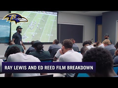 Ray Lewis, Ed Reed Teach How To Watch Film | Baltimore Ravens