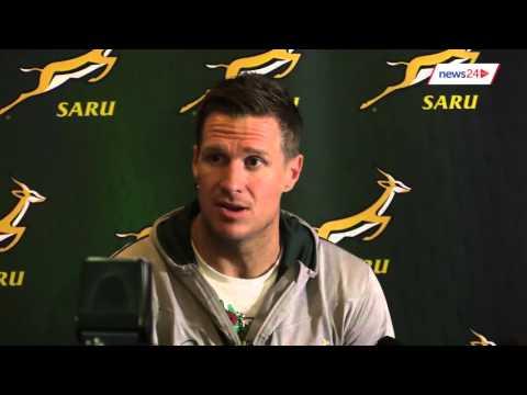 WATCH: Jean de Villiers addresses media at Cape Town airport
