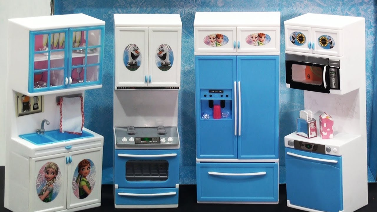 Frozen Kitchen Set Unboxing And Playing Frozen Kitchen Set For Girls Toy Kitchen Set Youtube