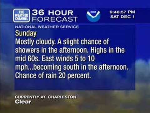 Weather Star XL Emulation, Dec. 1,  2007