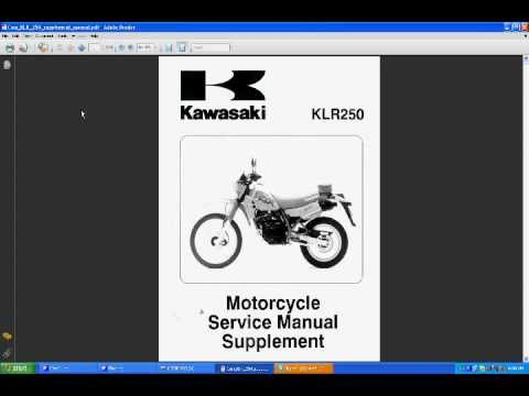 kawasaki klr 250 manual youtube rh youtube com klr 250 service manual pdf klx 250 workshop manual