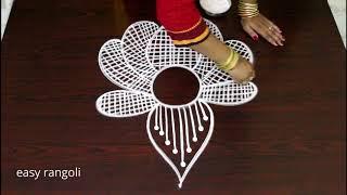 creative lotus rangoli designs * easy & simple free hand rangoli patterns * latest beautiful muggulu