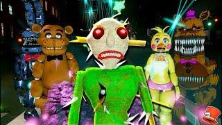NIGHTMARE BALDI HAS MAGICAL POWERS! USES THEM ON ANIMATRONICS! (GTA 5 Mods For Kids FNAF RedHatter)