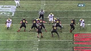 Desmond Morgan Picks Tipped Pass vs. Maryland