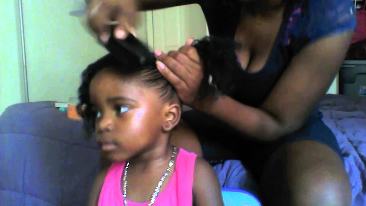 Natural Hairstyles Ponytails Natural Hair Styles For Toddlers Two Curly Pony Tails Youtube