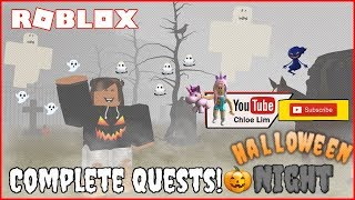 🎃 Roblox Halloween Night | Trick or treating, finding quest and finding items to complete the quests