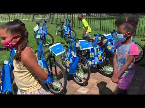 Trevor Williams and Walmart Kickoff Summer Camp with New Bicycles