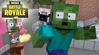 Monster School : FORTNITE CHALLENGE - Minecraft Animation (REUPLOAD)