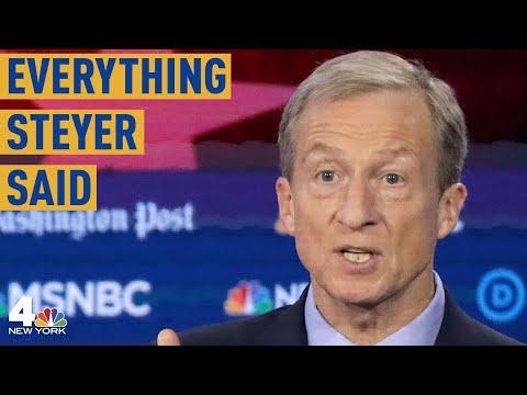 Everything Tom Steyer Said During the Democratic Debate in Atlanta | NBC New York