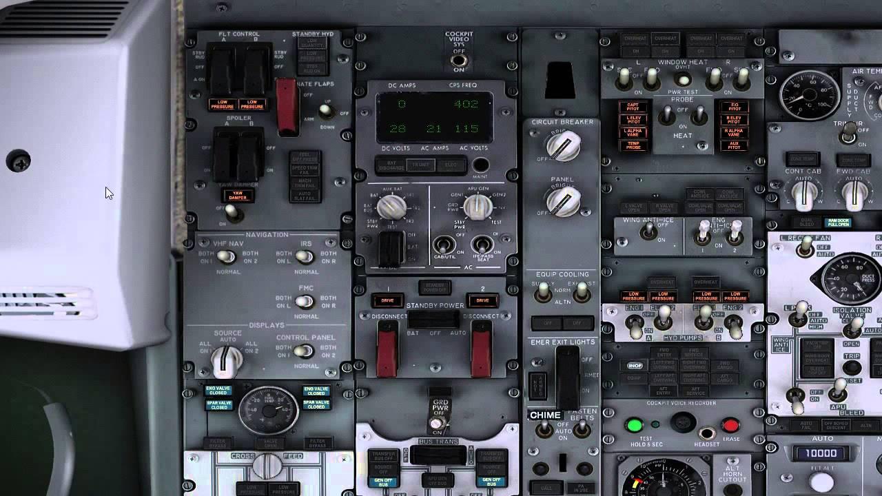 Overhead Aircraft Engine Control Lever : Givt overhead panel part preflight procedure scanflow