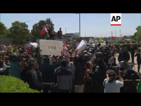Scuffles At Anti-Trump Demo At GOP Convention