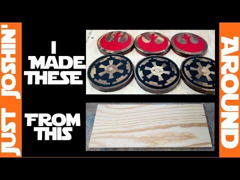 DIY Magnetic Star Wars Coasters! //Just Joshin' Around